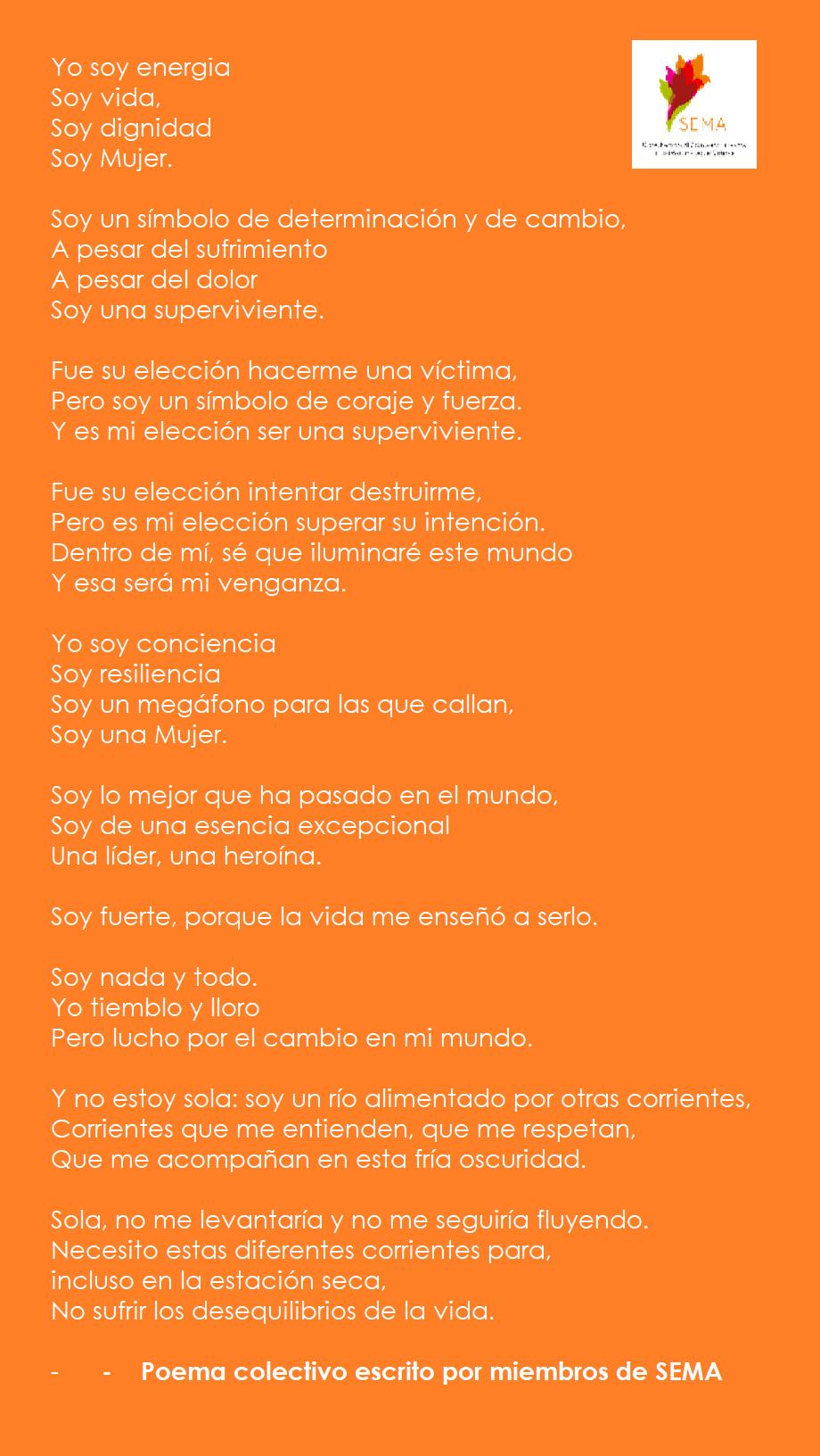 Poema colectivo de SEMA, noviembre 2019